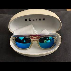 Celine Sunglasses purple ombr rainbow